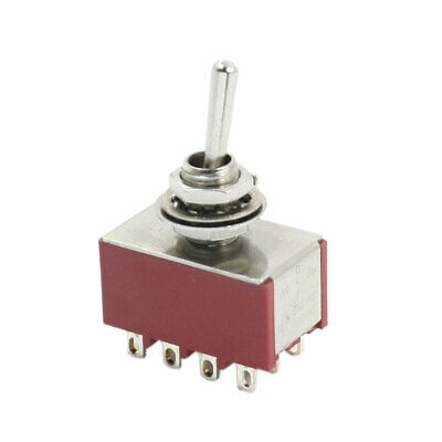 1MS2T1B1M1RE Panel Mount Toggle Switch On Gold Contacts SPDT On- 5A
