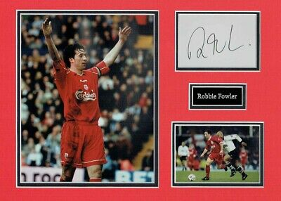 Robbie FOWLER Liverpool Legend Signed & Mounted Card Display AFTAL COA