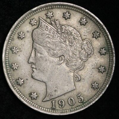 1905 Liberty V Nickel CHOICE XF+/AU FREE SHIPPING E261 AM