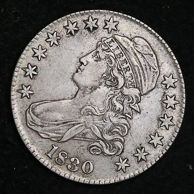 1830 Capped Bust Half Dollar CHOICE AU FREE SHIPPING E194 ACNT