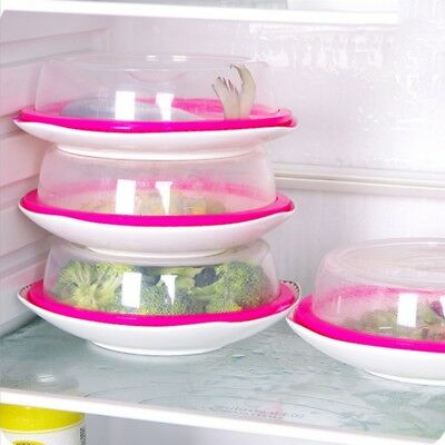 Clear Microwave Food Cover Plate Vented Splatter Protector Kitchen Lid Safe Vent