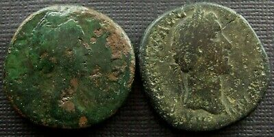 Roman Imperial; A job lot of 2 AE Sestertii