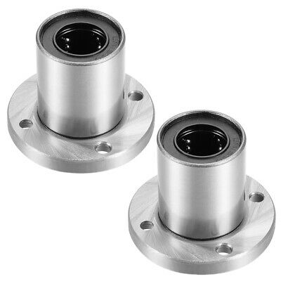 6mm Bore Dia sourcing map LM6UU Round Flange Linear Ball Bearings 12mm OD 19mm Length