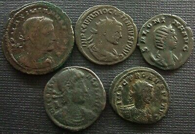Roman Imperial; A job lot of 5 AE coins