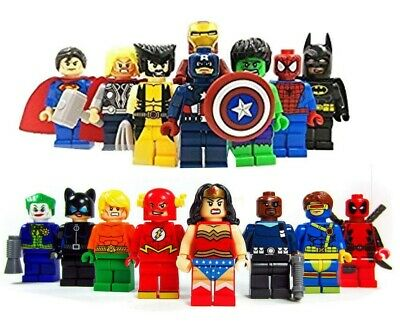 Fit Lego Super Heroes Minifigures Custom Superhero Mini Figures Various MiniFigs