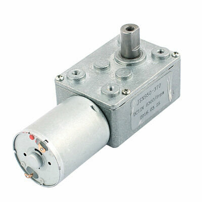DC 12V 8300/9RPM 2 Terminals Connecting Worm DC Geared Motor JSX950-370