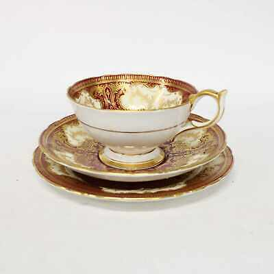 Vintage Aynsley China Bone China Tea Cup, Saucer & Plate Trio Set Patterned #209