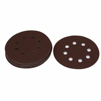 125mm Dia 8 Hole 1500 Grit Abrasive Grinding Hook and Loop Sanding Discs 10pcs