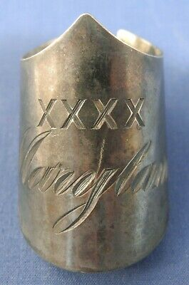 Antique Silverplated Napkin Ring Holder engraved XXXX Maryland by Fred Kuehne Co