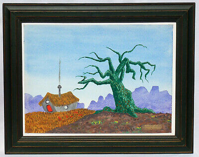 Odd painting of a fantasy house The Outer Space and Sci-FI Art of R. E. Gilbert
