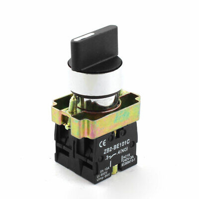 Panel Mounted 600V 10A 2NO Rotary Starting Latching Push Button Switch