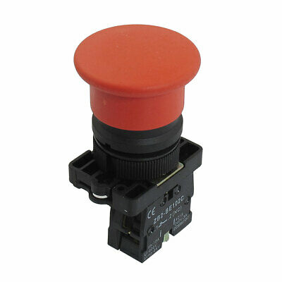 22Mm 1 Nc N//C Red Sign Momentary Push Button Switch 600V 10A Zb2-Ea4 JD