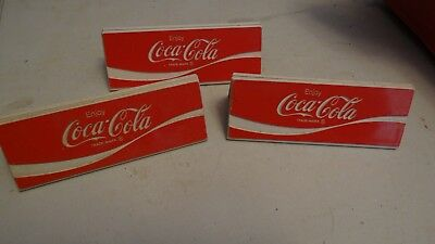 lot of 3 Vintage Coca Cola Menu sign table top holders FREE SHIPPING!!