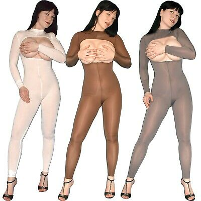 brustfreier GANZANZUG stretchig & weich* S Bodystocking* Nylon Catsuit* Overall