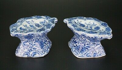 PAIR Chinese Blue and White Porcelain Salter Brush Palette KANGXI c1661-1722