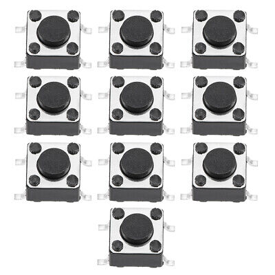 6x6x4.3mm Momentary Panel PCB SMD SMT Push Button SPST Tactile Tact Switch 10PCS