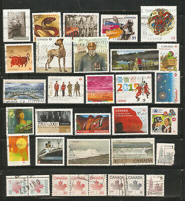 a stock page of recent used stamps from Canada.(C-15)