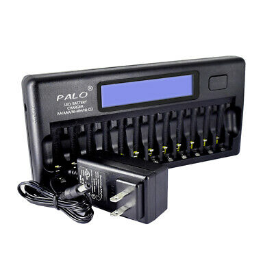 Fast Smart Charger for AA AAA NiCD NiMH Rechargeable Batteries LCD Display F1M6