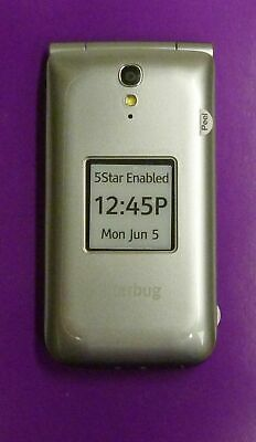 JITTERBUG FLIP PHONE Easy Simple Seniors SILVER Large Buttons  GREATCALL/UA3-4/12
