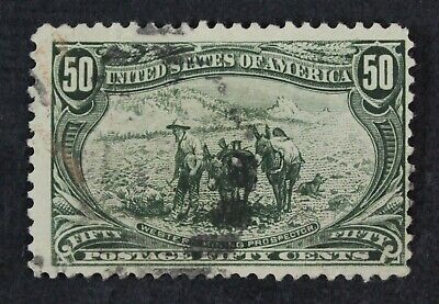 CKStamps: US Stamps Collection Scott#291 50c Used Lightly Crease CV$200
