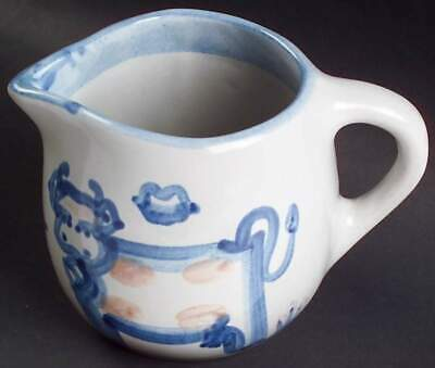 M A Hadley COUNTRY SCENE BLUE Cow Oversized Creamer 2283311