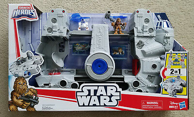 Star Wars Galactic Heroes 2-in-1 Millennium Falcon Playset New 2018 Talks Works
