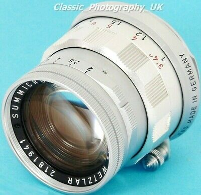 Summicron 1:2/50mm LEICA-M SHARP Prime Lens Made by LEITZ in 1966 - 100% MINT!!
