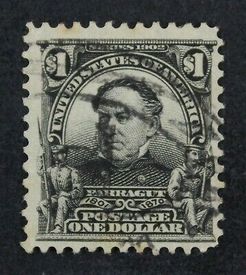CKStamps: US Stamps Collection Scott#311 $1 Used Spot Thin CV$95