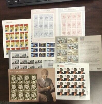 Seven (7) Different US Postage Souvenir Mint Sheets 128 Forever Stamps MNH
