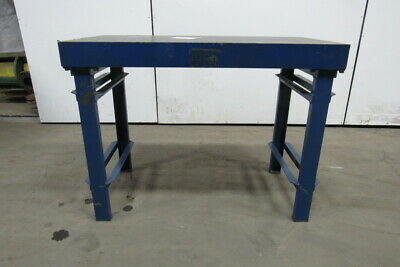 "48""x24""x36"" Cast Iron Fabrication Layout Welding Table Work Bench Webbed Design"