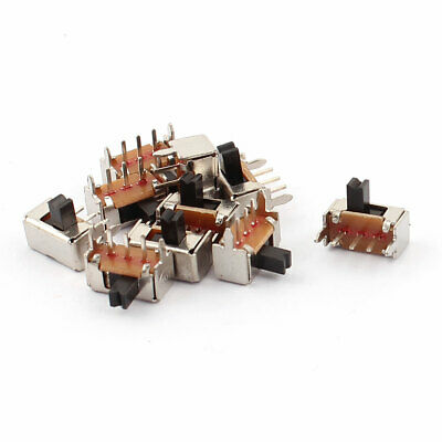 10 Pcs ON/OFF 2 Position 3 Poles SPDT Right Angle Panel PCB Mini Slide Switch