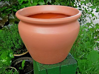Interior Craig & Rose Painted Plant Pot #1 - Etruscan Red - Shabby Chic