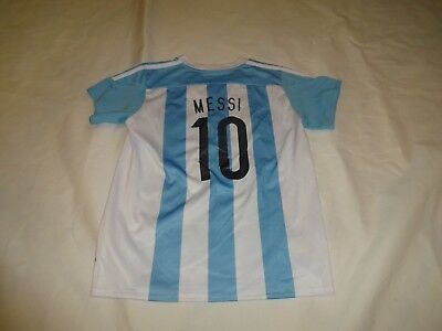 size 40 64392 cad2c ADIDAS KIDS ARGENTINA soccer jersey, youth Medium, boys girls MESSI HAS FLAW