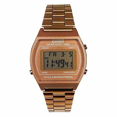 Casio Men's Illuminator Retro Digital Bronze Stainless Steel Watch B640WC-5A