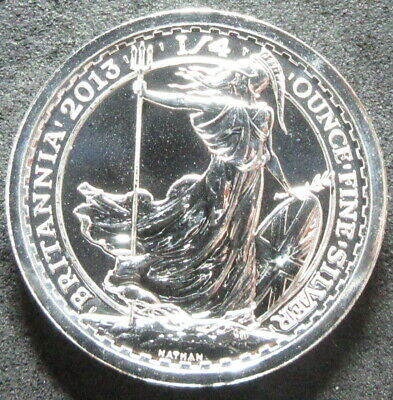 2013 Great Britain Britannia 1/4 Ounce Silver Fifty Pence Coin