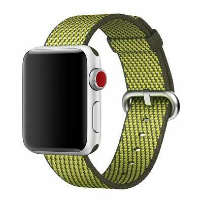 NEW GENUINE Apple Watch 42mm Woven Nylon Smart Replacement Band MQVQ2AM/A Green