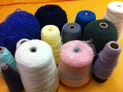 Machine or hand knitting yarn on cones, assorted shades ##ALFSS07JM