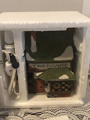 Dept 56 Dickens Village - T. Wells Fruit And Spice 5924-2 Retired Mib!!