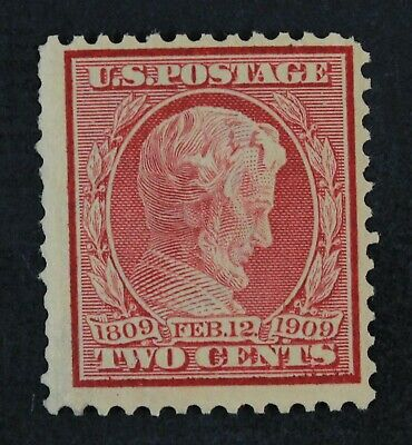 CKStamps: US Stamps Collection Scott#369 2c Lincoln Mint H OG Bluish Tiny Thin
