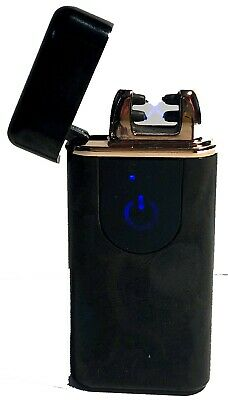 Rechargeable Arc Plasma Lighter, USB, Electric, Lithium Ion Battery, Onyx Color