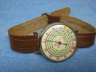 Men's Vintage Ankle Mount Mechanical Pedometer - W. Germany