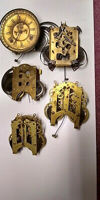 Selection of American? Clock Movements (5) Spares/Repair One Visible Escapement.