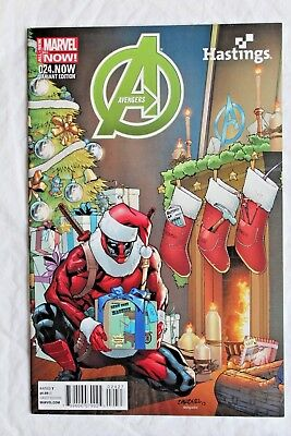 Avengers #24. Now Hastings Christmas Deadpool Variant Holiday Hickman Marvel Nm