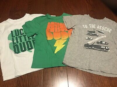 Lot Of 3 Childrens Place And Carter's Short Sleeve Toddler Shirts Size 4T