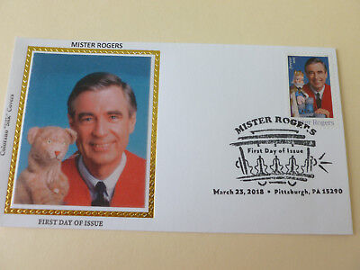 Mister Rogers 2018 Fdc Sc#5275 Colorano Silk Cachet Cover {Cachet Variety #2}