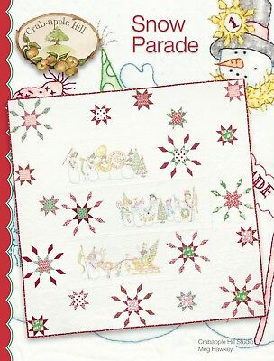 10% Off Crab-apple Hill Quilt/Embroidery Pattern - Snow Parade