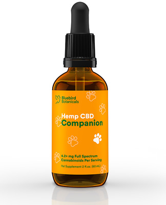 Organic Hemp Oil for Dogs and Cats Pets Stress Anxiety Pain Relief 250mg 2 oz.