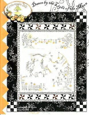10% Off Crab-apple Hill Quilt/Embroidery Pattern-Dance by the Light of the Moon
