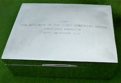LARGE SILVER BOX FROM THE FORMATION OF 'NORTHERN COMMAND' INDIA 1945 - 26.5ozt