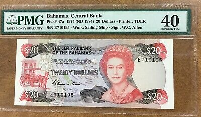 $3 Bahamas Central Bank ND1984 PRINTER: TDLR PMG 67EPQ #N40 1974